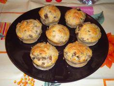 Voglia di muffin salati? Provate i nostri muffin con salsiccia e funghi!