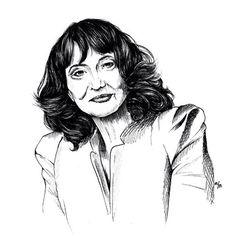 La philosophie au féminin - Sylviane Agacinsky  #agacinsky #drawing #dessin #portrait #illustration #philosophy #artwork #lineart #staedler