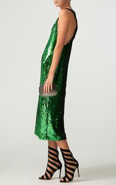 Sequin Sleeveless Dress by SALLY LAPOINTE for Preorder on Moda Operandi