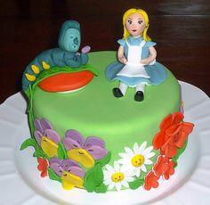 Alice in Wonderland birthday cake by EvaRose Cakes
