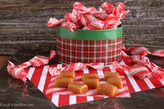 Old Fashioned Salted Caramels are soft and chewy with just the right amount of sweet and salty taste. Very easy to make without using a candy thermometer.