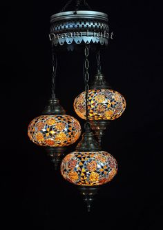 Spiral 3 Balls Lamp Turkish Mosaic Lamp by DreamLightBazar on Etsy Light Bulb Chandelier, Beaded Chandelier, Chandelier Pendant Lights, Turkish Lamps, Moroccan Lamp, Moroccan Lanterns, Moroccan Style, Cluster, Handmade Lamps