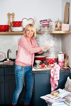 in the kitchen Lets Stay Home, Hearth And Home, Family Affair, Home Living, Homemaking, Kitchen Dining, Dining Room, Dinnerware, Inspiration
