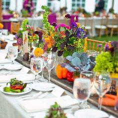 Hochzeit Feier Beispiele Fotos Tisch Veilchen Rosen
