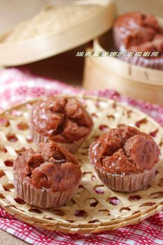 紅麴桂圓發糕