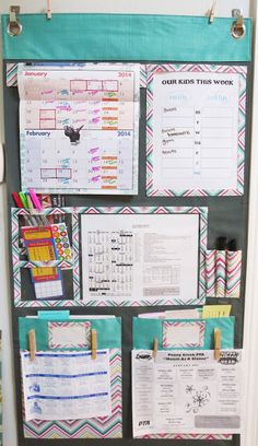 Thirty-One Hang up organizer for the family command center in entry way. Click photo to go to this blog for more organization tips.