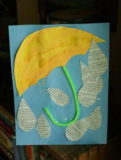 Views From My Window: Kids Craft - Umbrellas-weather Toddler Crafts, Preschool Crafts, Crafts For Kids, April Preschool, Spring Activities, Preschool Activities, Weather Activities, Rain Crafts, Weather Crafts