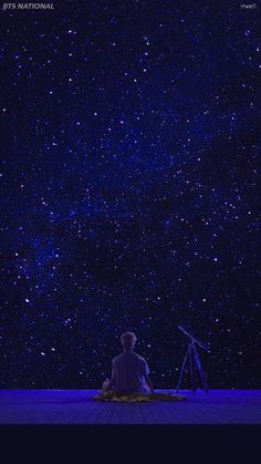 Jimin's SERENDIPITY | wallpaper | sky | night | stars | dark | BTS |