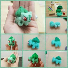 Voltando a praticar needle felting  #pokemon #bulbasaur