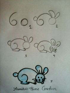 How to draw an easy bunny