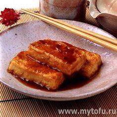 Тофу жареный с соевым соусом (тофу набетери)