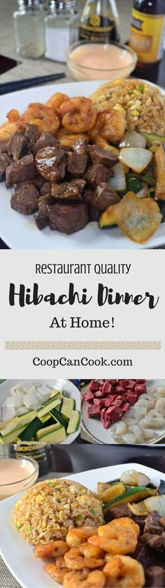 Restaurant quality Hibachi dinner made right in your kitchen! This recipe details step by step instructions on how to make a fun and delicious meal!