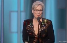 Meryl Streep fires up Golden Globes with anti-Trump message