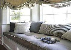 Window Seat Cushions - Foam & feather interior