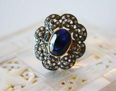 Victorian diamond/sapphire ring