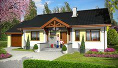 Projekt domu parterowego Bastek z garażem 1-st. [A] o pow. 89,1 m2 z garażem 1-st., z dachem dwuspadowym, z tarasem, sprawdź! Home Fashion, Pergola, New Homes, Outdoor Structures, Cabin, Mansions, House Styles, Outdoor Decor, Home Decor