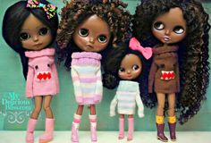 Beautiful In Every Shade  Custom Beautiful Brown Takara Blythe Dolls by My Delicious Bliss