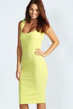 Rosie Panelled Bodycon Midi Dress