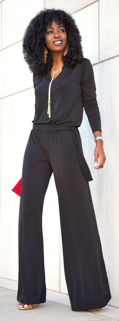 Black Jumpsuit by Style Pantry