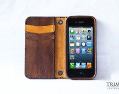 Unique iPhone Cases, Watch Bands and Wallets by TRIMleather Iphone Accessories, Leather Accessories, Vintage Leather, Leather Men, Leather Cell Phone Cases, Unique Iphone Cases, Handmade Leather Wallet, Personalized Items, My Style