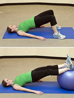 Back Bridge Exercises for Strong, Gorgeous #Abs #workout http://www.ivillage.com/exercises-strong-gorgeous-abs-no-crunches-necessary/4-b-504496#504508