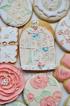 Shabby Chic Bird Cage Cookies,  by Ali Bee's Bake Shop