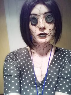 THIS WILL BE MY HALLOWEEN COSTUME. The Other Mother from Coraline. Perfect.