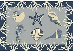 Accent your place settings with this placemat. This 13 x 19 placemat features a coastal seashell design. This decorative placemat will enhance your dining experience. Front of placemat is made of 55% cotton 45% polyester and a 90% polyester, 10% cotton backing.
