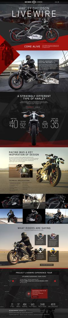 Unique Web Design, Harley-Davidson Livewire http://www.pinterest.com/aldenchong/) more on http://themeforest.net/?ref=Vision7Studio