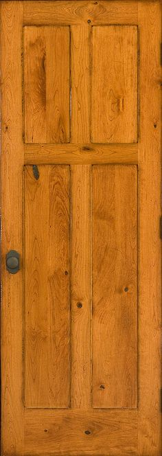 A beautiful rustic cherry door with a distressed finish to make it look a century old.