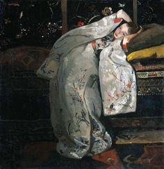 Георг Хендрик Брейтнер. Девушка в белом кимоно