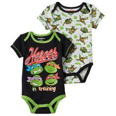 Baby Boy Teenage Mutant Ninja Turtle 2-pk. Bodysuits, Size: 3-6 Months, Black