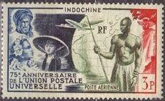 "002- French *Indochina* ""upu stamps"""