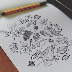 Autumn Leaves // Thank You @etsy for following me! #leaves #leaveschanging #autumn #drawing #sketch #handdrawn #handmade #coloring #coloringbook #coloringbookforadults #adultcoloringbook #rajz #flowers #wood #nature #colortherapy #farben #ősz #etsy #budapest #illustration #art #draw #doodle #botanical #flower #virágok #creative #illusztráció #chillin