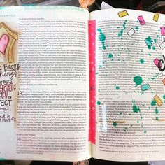 Trying to get back in the #biblejournaling game. Kinda cool that my entry today ended up right beside the page I did exactly a year ago today when I was at the #illustratedfaith conference in Atlanta #lovebearsallthings