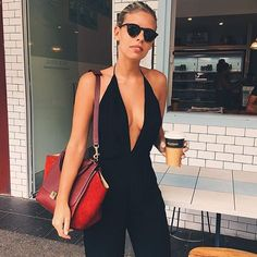 SAMMIE JUMPSUIT, TASH OAKLEY #tashoakley #backstage | Spotted - Backstage Girls | Pinterest