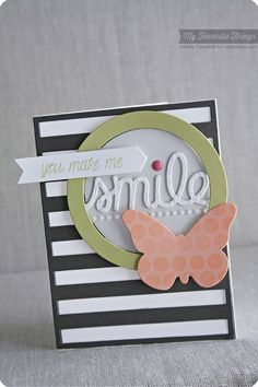 Smile, Butterflies Die-namics, TRANSFORM-ables Smile Die-namics, Stripes Cover-Up Die-namics - Keisha Campbell #mftstamps