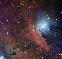 NGC 6559 vista por el telescopio de 1.5 metros de La Silla, Chile (ESO). Vía.