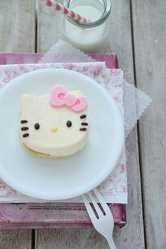 What a sweetly darling little Hello Kitty Cake. #food #Hello #Kitty #cake #pink #cute