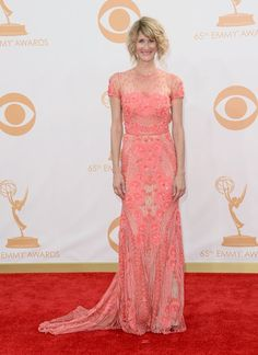 #emmyfashion Laura Dern arrives at the 65th Primetime Emmy Awards at the Nokia Theatre in Los Angeles on September 22, 2013.