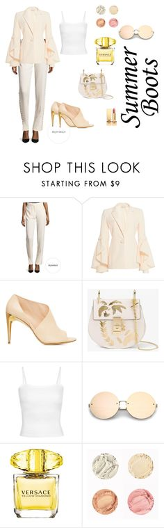 """Walk This Way: Summer Booties"" by tanyakc on Polyvore featuring мода, Prabal Gurung, Alberta Ferretti, Chloé, Versace, Yves Saint Laurent и summerbooties"