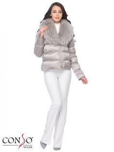 Пуховик женский WSF 170530 silver lilac - купить 🏬 в интернет-магазине Сonsowear™️