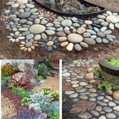 10 garden decorating ideas with rocks and stones stone rock and similar ideas workwithnaturefo