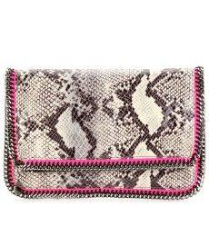 Stella McCartney python print foldover clutch