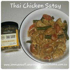 Thai satay chicken curry. Was a little spicy for the kids so I just mixed a spoonful of natural yoghurt through theirs. Problem solved!