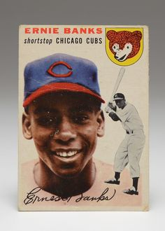 3cc9971ab2 1954 #ErnieBanks Cubs Topps Rookie #Baseball Card #ICollect #EBTH Baseball  Star,