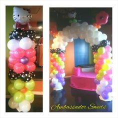 Hello Kitty balloon decorations