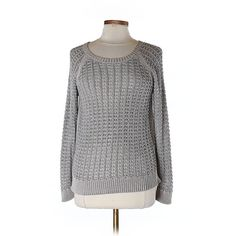 Pre-owned Ann Taylor LOFT Pullover Sweater ($16) ❤ liked on Polyvore featuring tops, sweaters, grey, grey top, loft sweaters, grey pullover sweater, gray top and pullover sweater