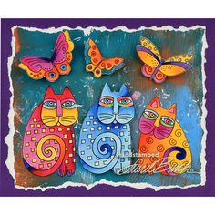 Laurel Burch™ Indigo Cats Pop Up Card by Fran Seiford - Stampendous