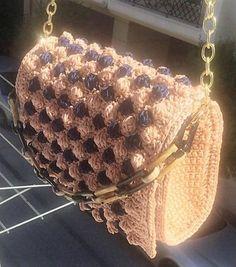 Crochet Women's Hand Bag Shoulder Bag Macrame Yarn Beige